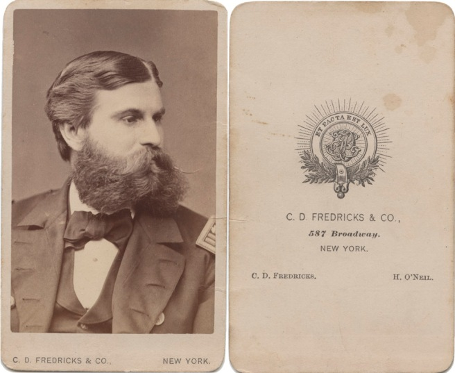 Army Captain, 1870s, CD Fredricks